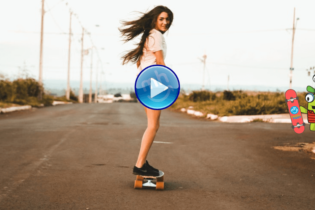 girl on skate board